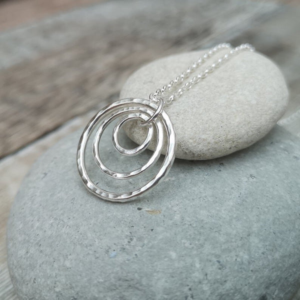 Sterling Silver Three Circle Necklace