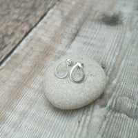Sterling Silver Tear Drop Stud Earrings
