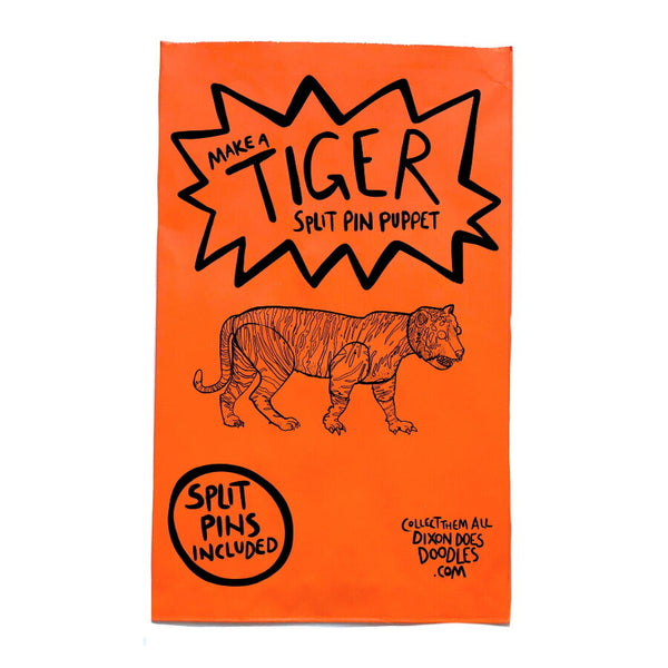 Create a Tiger Paper Puppet