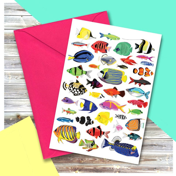 Tropical Fish Card