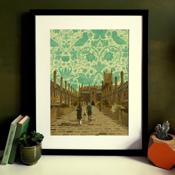 Wells Vicar's Close Somerset Print