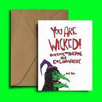 You Are Wicked Card