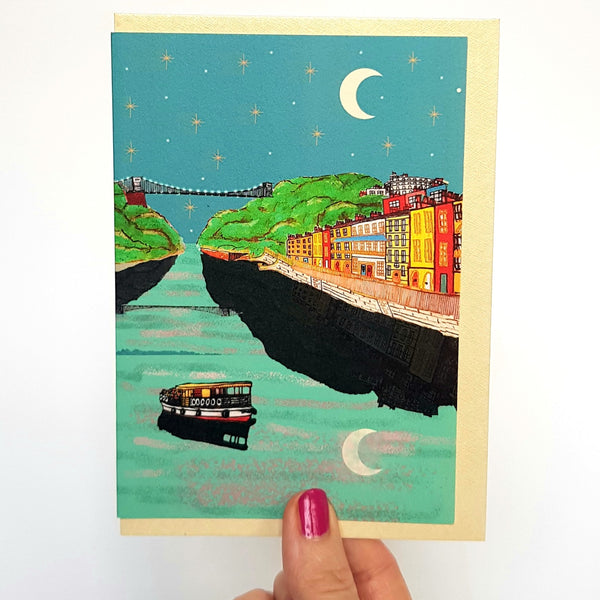 Bristol at Night Card