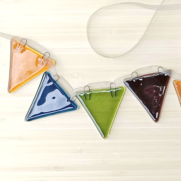 Autumnal Colours Glass Bunting