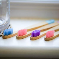 Bamboo Toothbrush - Children's - Soft Bristles - 4 Pack