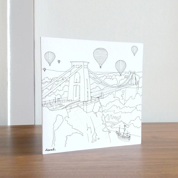 Colour In Gorgeous Bristol Card