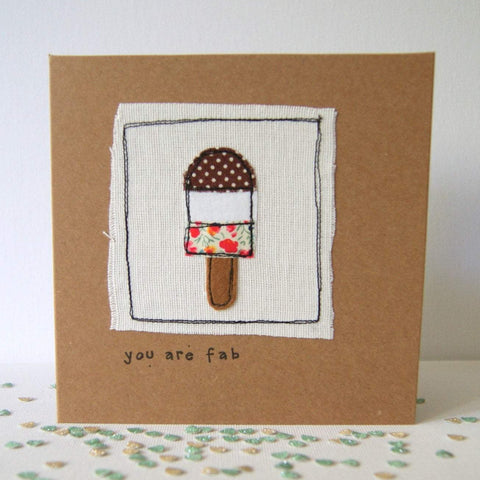 Fab ice lolly handmade greetings card, made in Bristol