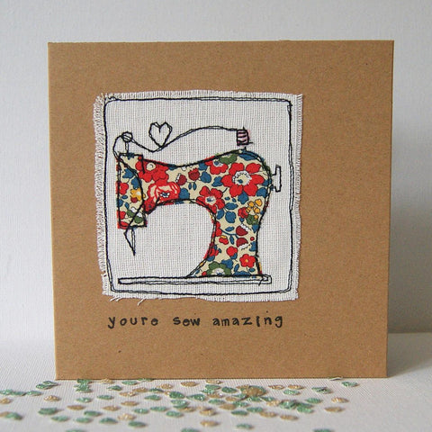 Sewing Machine Greetings Card made in Bristol