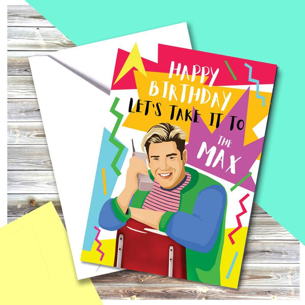 Saved By The Bell Greetings Card - Zack Morris
