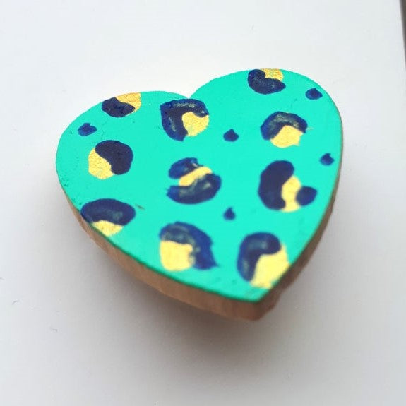Leopard Heart Brooch