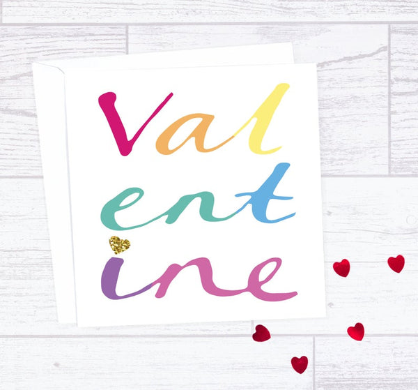 Rainbow Valentine's Day Card