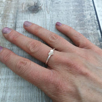 Sterling Silver Ring Band with 12ct Gold Filled Heart