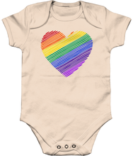 Load image into Gallery viewer, Rainbow Heart Babygrow