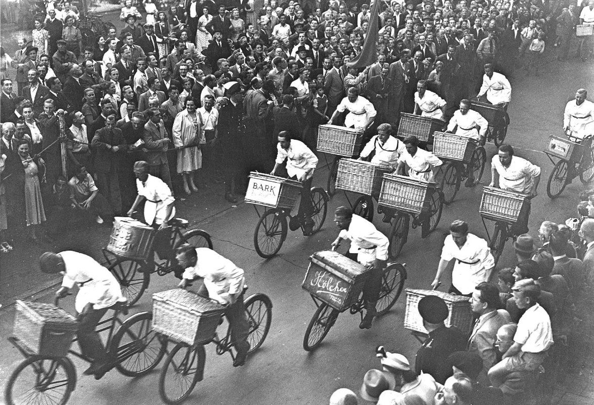 People riding Cycle Trucks in the 1930s