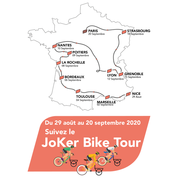 Carte du JoKer Tour - JoKer Bike