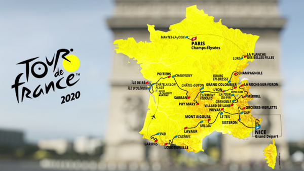Carte du Tour de France - JoKer Bike