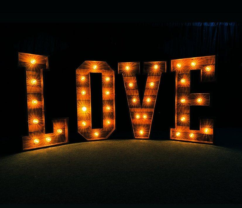 4ft LED letters & Numbers Hire Hertfordhire, South East England and London