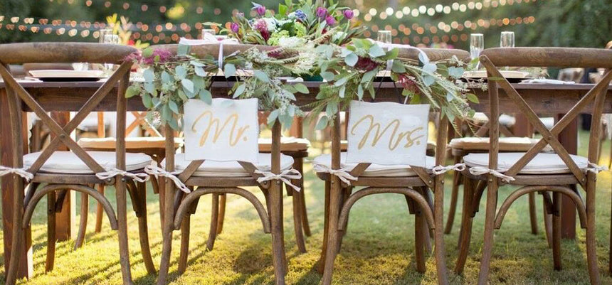 RUSTIC CROSS BACK CHAIRS INCLUDING PAD