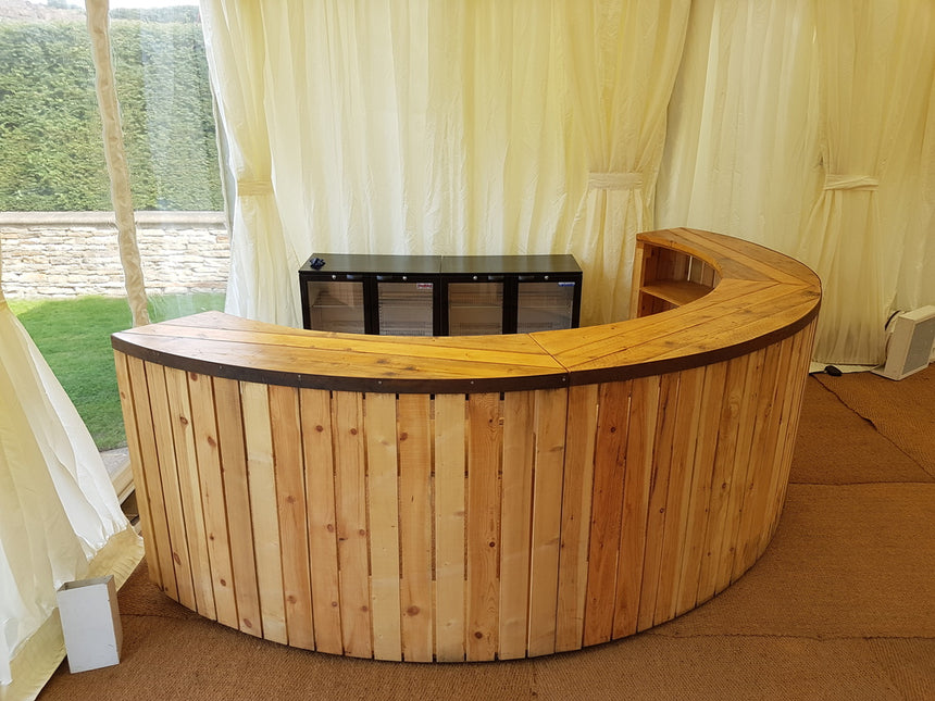 SEMI CIRCLE RUSTIC BAR