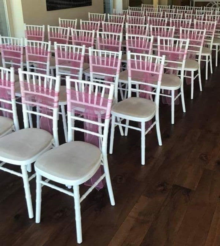 White chiavari chairs hire in hertfordshire, bedfordshire, buckinghamshire, cambridgeshire, London and South of England