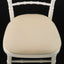 SILVER CHIAVARI CHAIRS INCLUDING PAD