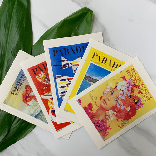 Set of 5 HONOLULU Blank Cards