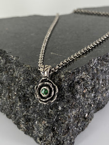 Black Rose - Green Topaz