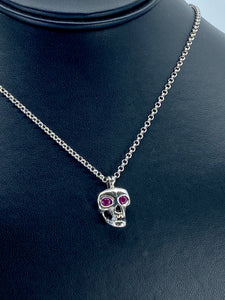 Skull Pendant  with Rubies