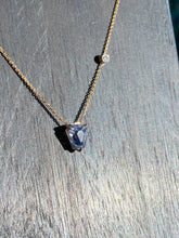 Load image into Gallery viewer, Sapphire and Diamond Gold Necklace