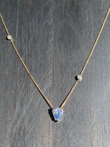 Sapphire and Diamond Gold Necklace