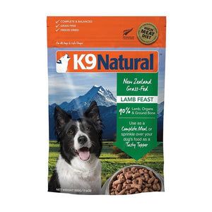 K9 NATURAL LAMB FREEZE DRIED 500G