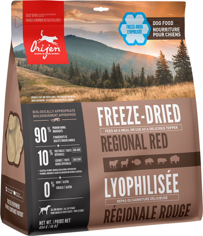 ORIJEN FREEZE DRIED REGIONAL RED 454G