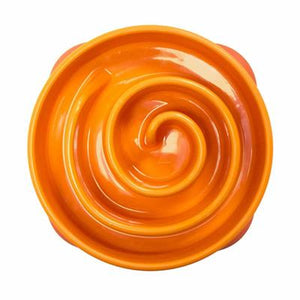 OUTWARD HOUND FUN FEEDER CORAL ORANGE MINI