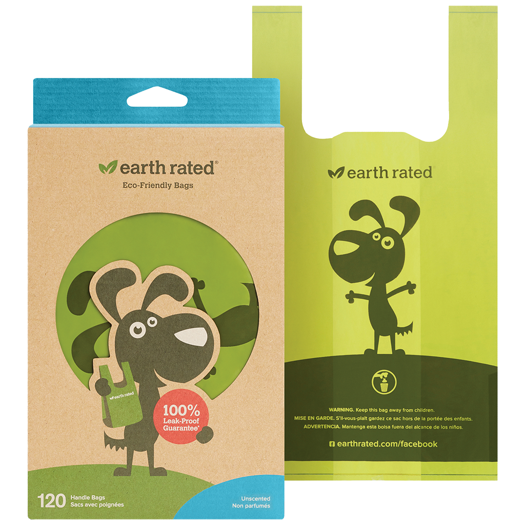 EARTH RATED BIO BAG HANDLE UNSCENTED 120CT