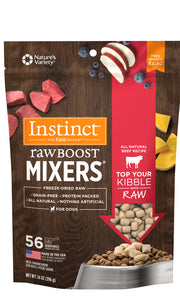 NATURES VARIETY FREEZE DRIED RAW BOOST MIXER BEEF DOG 396G