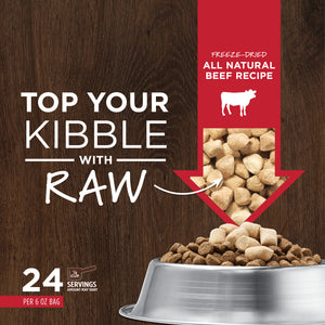 NATURES VARIETY FREEZE DRIED RAW BOOST MIXER BEEF DOG 170G