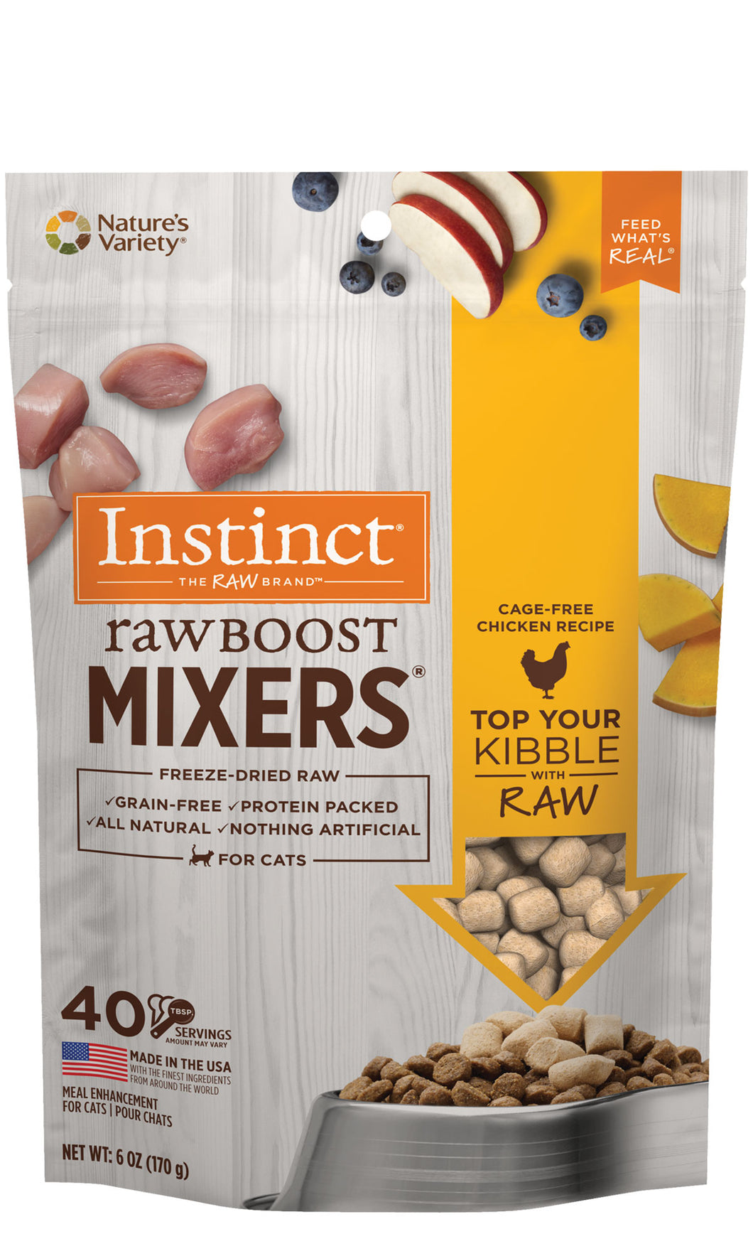 NATURES VARIETY FREEZE DRIED RAW BOOST MIXER CHIC CAT 170G