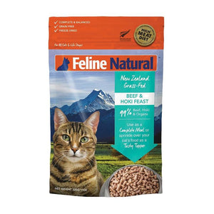 FELINE NATURAL FREEZE DRIED BEEF/HOKI 320G