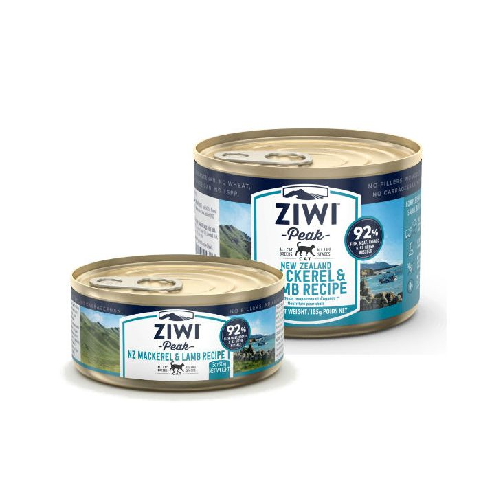 ZIWIPEAK CAT MACKEREL/LAMB CAN 85G
