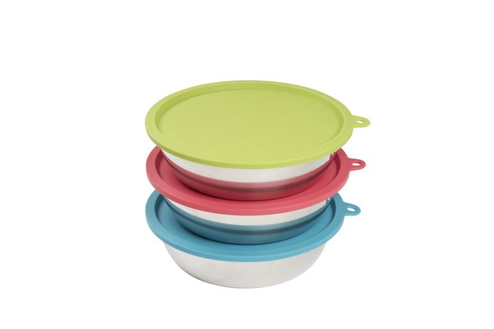 MESSY MUTTS RAW BOWL/COVER SET 6PC MED