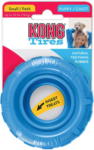 KONG PUPPY TIRES PINK/BLUE SM