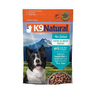 K9 NATURAL HOKI/BEEF FREEZE DRIED 500G