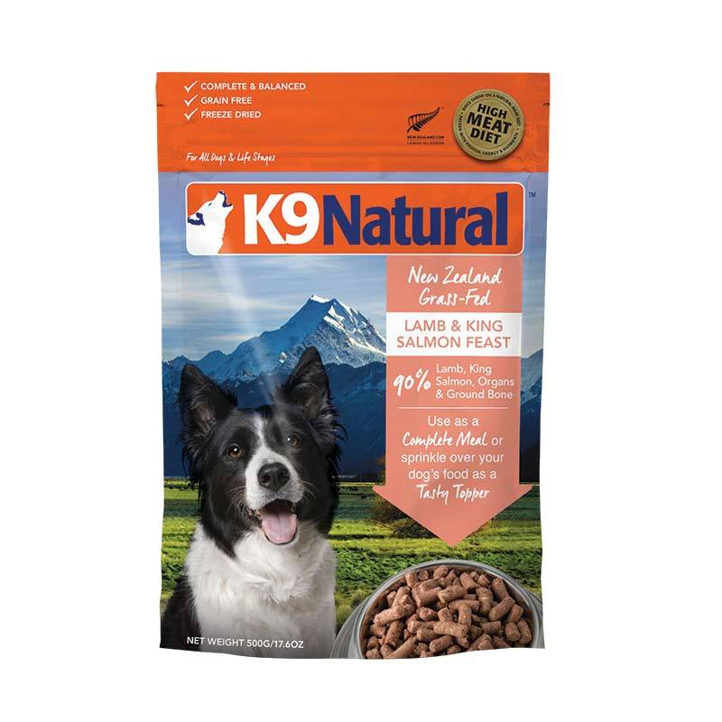 K9 NATURAL LAMB/SALMON FREEZE DRIED 500G