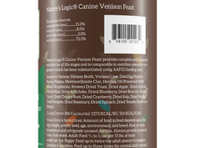 Load image into Gallery viewer, NATURES LOGIC VENISON DOG CAN 13.2OZ