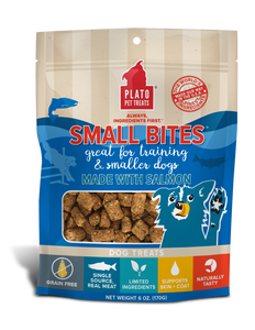 PLATO SMALL BITES GRAIN FREE SALMON 6OZ