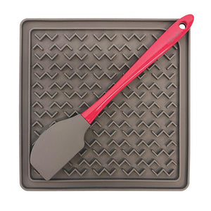 MESSY MUTTS INTERACTIVE FEEDER MAT W/SPATULA