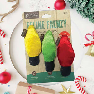 PLAY FELINE FRENZY HOLIDAY LIGHTS 3PK