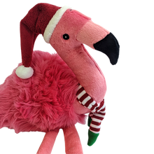 Load image into Gallery viewer, FLUFF & TUFF XMAS KITT FLAMINGO 18""