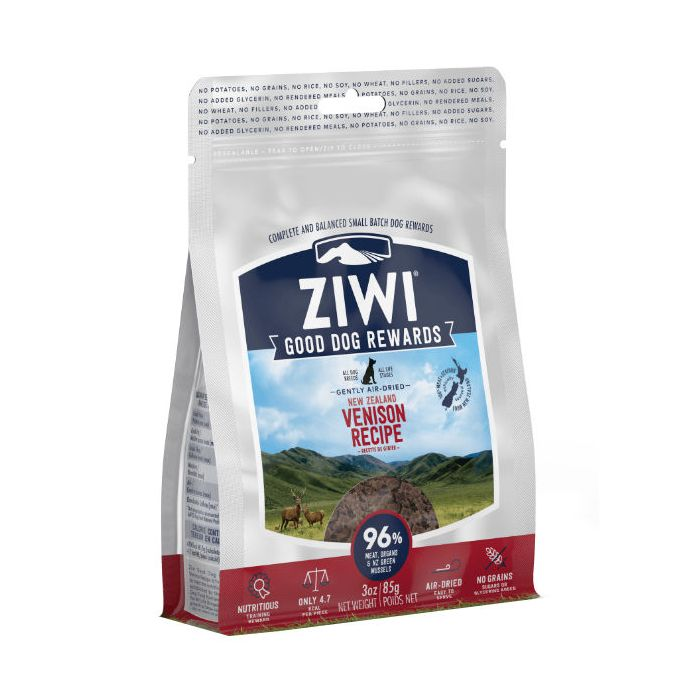 ZIWIPEAK DOG VENISON TREATS 85G