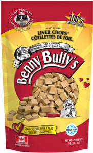 BENNY BULLYS LIVER CHOPS CAT TREAT 30G